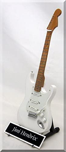 Jimi Hendrix Guitarra en miniatura réplica W/Nombre de etiqueta ...