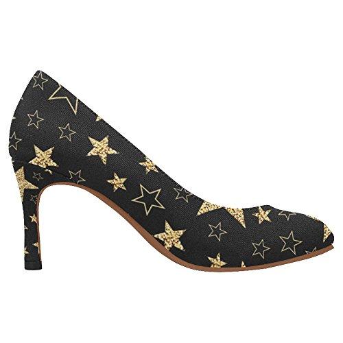 InterestPrint Womens Fashion High Heel Dress Pump Shoes Multi 2 y05c6ym6s