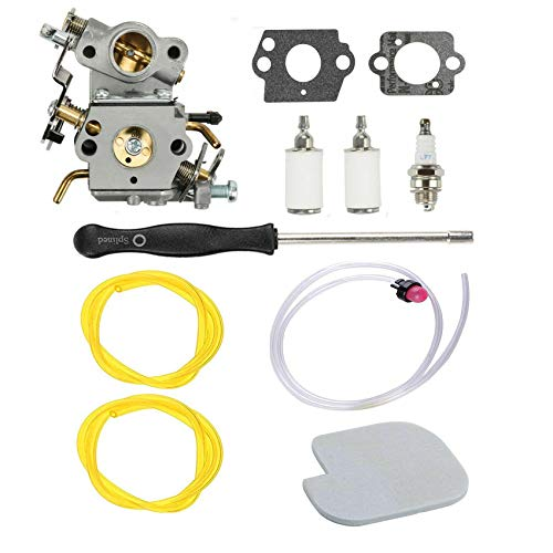 Podoy P3314 Carburetor for Poulan Chainsaw Parts PP4218A Air Fuel Filter with Adjustment Tool Tune-up Kit for P3416 P3816 P4018 PP3416 PP3516 PP3816 PP4018 PP4218 PPB3416 PPB4018 PPB4218 545070601 (Carb Poulan 3314 Kit Chainsaw)