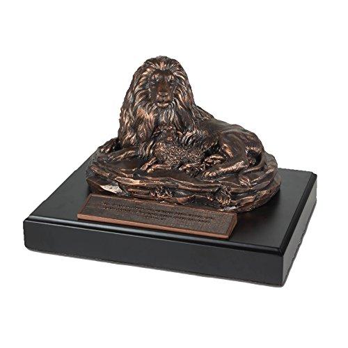 """LCP Moments of Faith Lion & Lamb Sculpture, 5 1/2 """""""