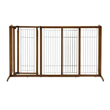 Richell 94190 Deluxe Freestanding Pet Gate with Door, Large
