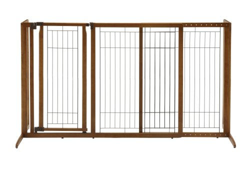 Richell Deluxe Freestanding Pet Gate with Door, Large - Richell Gates