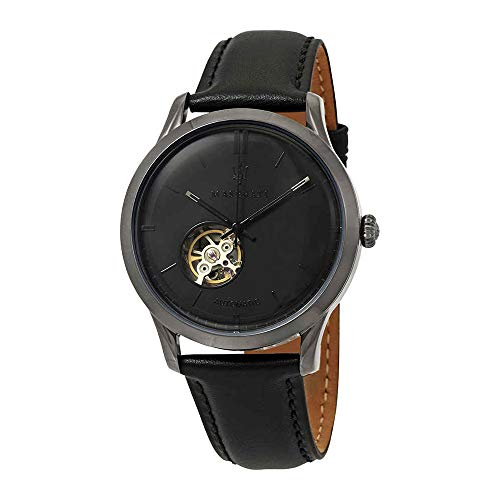 MASERATI Men's 'Ricordo' Quartz Stainless Steel and Leather Casual Watch, Color:Brown (Model: R8821133001