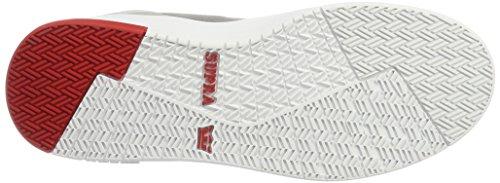 Supra Vaider 2.0 Men Round Toe Synthetic Black Skate Shoe White - Red c3tdBbzs