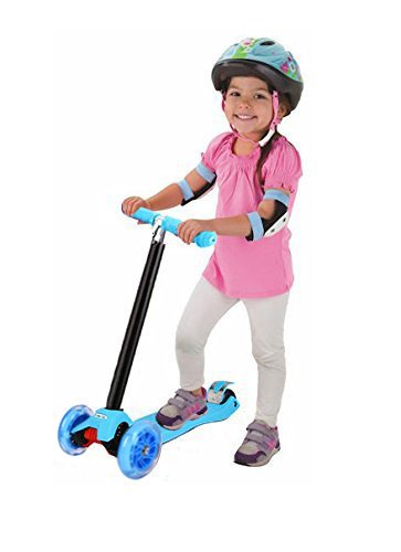 Amazon.com: Jaykoo Kid Mini Scooter Patinete 3 ruedas luz ...
