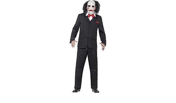 Disfraz de terror Saw disfraz con máscara M 48/50 Killer de miedo ...