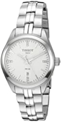 Tissot Women's 'Pr 100' Swiss Quartz Stainless Steel Dress Watch, Color:Silver-Toned (Model: T1012101103600)