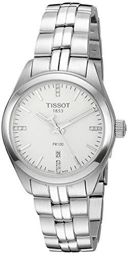 - Tissot Women's 'Pr 100' Swiss Quartz Stainless Steel Dress Watch, Color:Silver-Toned (Model: T1012101103600)