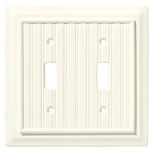 - Brainerd 126359 Beadboard Double Toggle Switch Wall Plate / Switch Plate / Cover