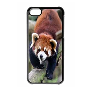 [Beautiful Panda] Red Panda Animal Case For iPhone 5C {Black}