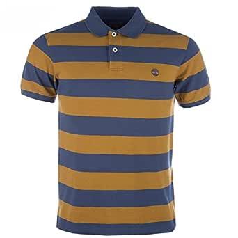 Timberland Para Hombre Azul y Camisa de Polo de Rugby Oro Bloque ...
