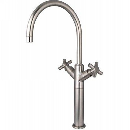 Elements of Design ES8068JX South Beach 2-Handle Vessel Sink Faucet Without Pop-Up, 8- 1/2'', Satin Nickel by Nuvo