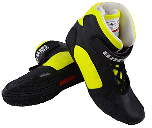 - RJS RACING SFI 3.3/5 ELITE LEATHER DRIVING SHOES YELLOW SIZE MENS 10 WOMENS 12