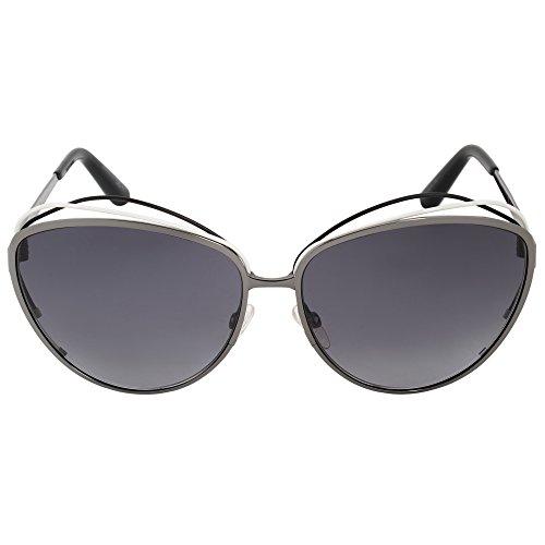 Christian Dior Songe/S Sunglasses Black White Ruthenium / Gray - Butterfly Sunglasses Christian Dior