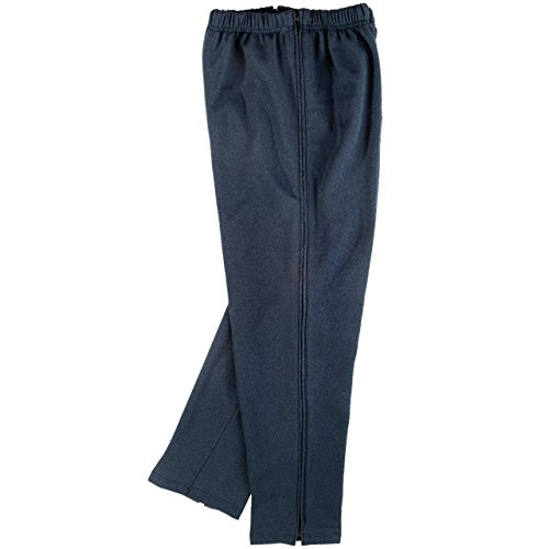 Benefit Wear Adaptive Full Length Side Zipper Pants (M (34-36), Navy Fleece - Zipper Style 1)