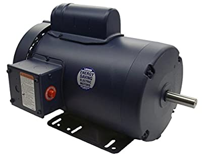 2 hp 3450 RPM 145T Frame TEFC 115/208-230 Volts Leeson Electric Motor # 120036