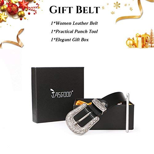 d921db489c Women Leather Belts Ladies Vintage Western Design Black Waist - Import It  All