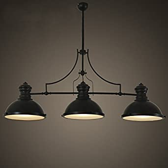BAYCHEER HL416343 Industrial Retro Vintage Style Three Light Pool Table Light