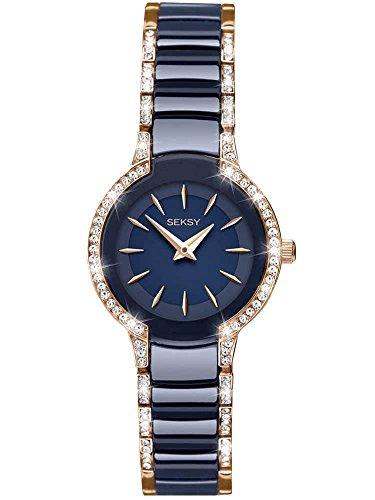 SEKONDA Womens Analogue Classic Quartz Watch with Brass Strap 2382.37 (For Watches Seksy Women)