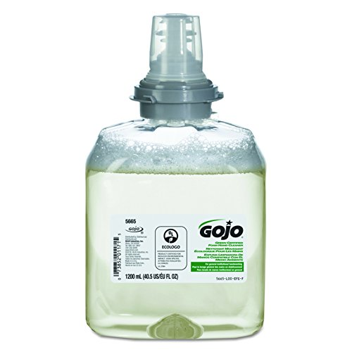 GOJO Green Certified Foam Soap Handwash Refill - Unscented Hand Cleaner Foam, 1200mL Refill for TFX Hand Soap Dispenser (Case of 2) - 5665-02