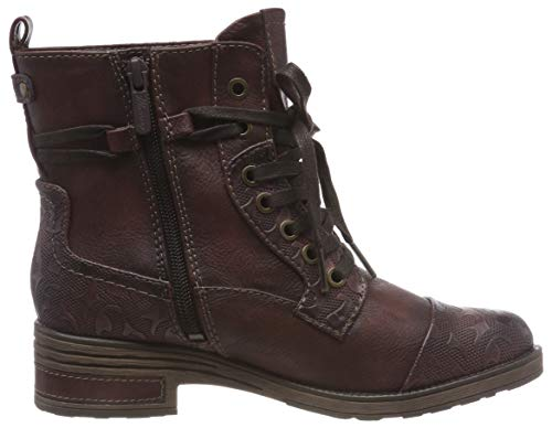 Rojo 55 Mujer Stiefelette Para Mustang Botines bordeaux 4qYtnIx