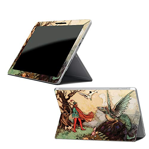 Price comparison product image MightySkins Skin Compatible with Microsoft Surface Go - Tale of A Dragon / Protective,  Durable,  and Unique Vinyl Decal wrap Cover / Easy to Apply,  Remove,  and Change Styles / Made in The USA