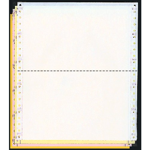 9-1/2 x 5-1/2 Dot Matrix Pinfeed Computer Paper Scale Tickets (White - Yellow - Pink - Gold)
