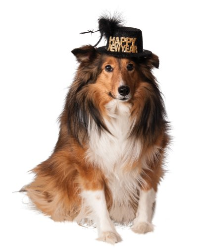 Dog New Years Costume (Rubies Costume Company Happy New Year Pet Hat, Medium/Large)