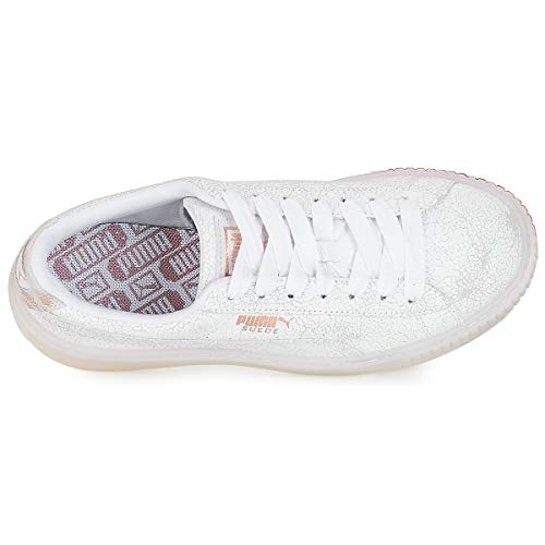 Femme Blanc puma Basses Wn's 01 White Puma Platform Suede Sneakers White Artica Puma w0q1pTxYW