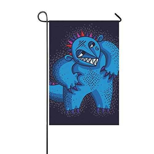 Fantasy Design Funny Alien Monster Polyester Garden Flag Ban