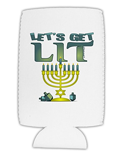 TooLoud Let's Get Lit Menorah Collapsible Neoprene Tall Can Insulator ()
