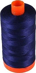 Aurifil Cotton Mako 50wt Midnight Blue Thread Large Spool 1421 yard MK50 2745