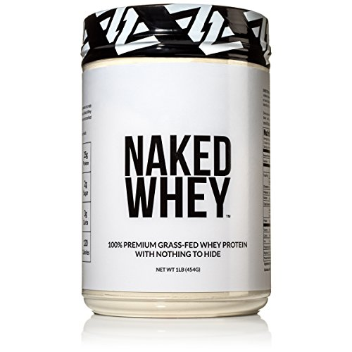 Naked WHEY 1LB #1 Undenatured 100% Grass Fed Whey Protein Powder – US Farms, Bulk, Unflavored – GMO, Soy, and Gluten Free – No Preservatives – Stimulate Muscle Growth – Enhance Recovery – 15 Servings