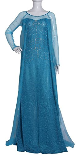 [Eyekepper Cosply Snow Queen Elsa Dress Costume Adult] (Frozen Costume Elsa For Adults)