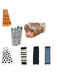 Lucky staryuan ® Set of 6 Combed Cotton Baby Leg Warmers-Boy or Girl