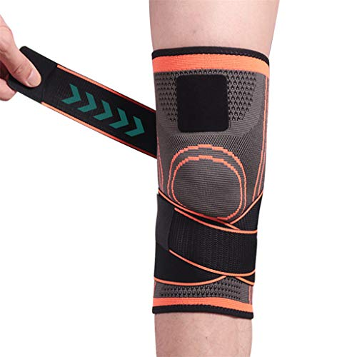 - Knee Support Belt, CHUNKUNA Knee Support with Adjustable Compression Sleeve, Support for Running, Basketball, Help Joint Pain and Arthritis Relief, Improve Blood Circulation (Orange, M)