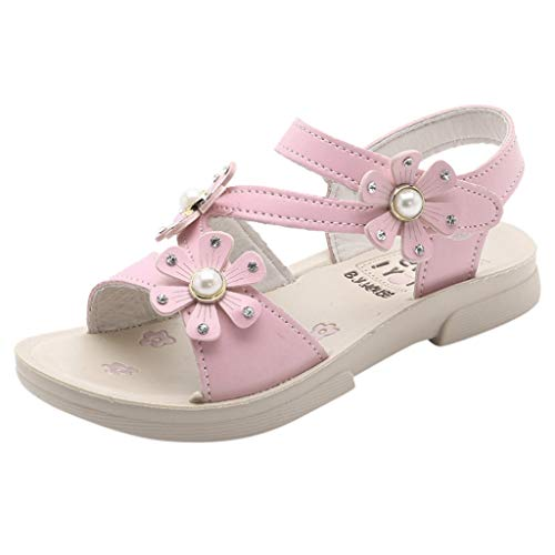 My Heat Toddler Infant Kids Baby Girls Flower Leather Floral Princess Shoes Sandals Pink