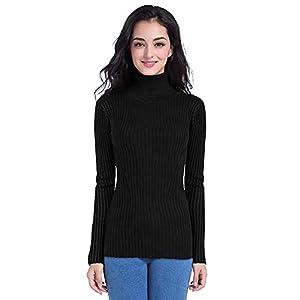 DENIMHOLIC Women's Cotton Turtle Neck Sweater