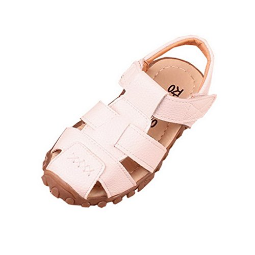 Niños Y Niñas Cerrado Toe Casual Verano Playa Zapatos Sandalias Sandalias Al Aire Libre blanco