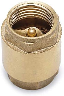 Check Valve for Repair NPT Female Thread Brass Float Reinforced 0,5 inch Float Brass One Way Check Valve 1//2 Female Backflow Preventer