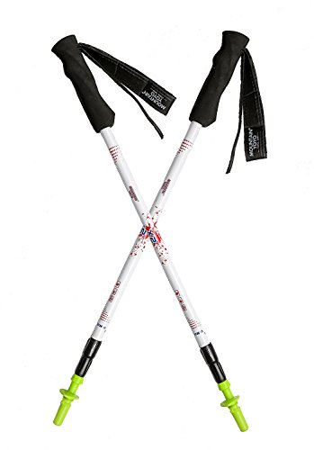 A Pair of Mountain YOYO X2V2.0 White Carbon Fiber Ultra Light Weight (169g, 6oz) Walking Pole Trekking Pole Walking Stick Telescoping Men Women 2 Pack MYYX2WH2