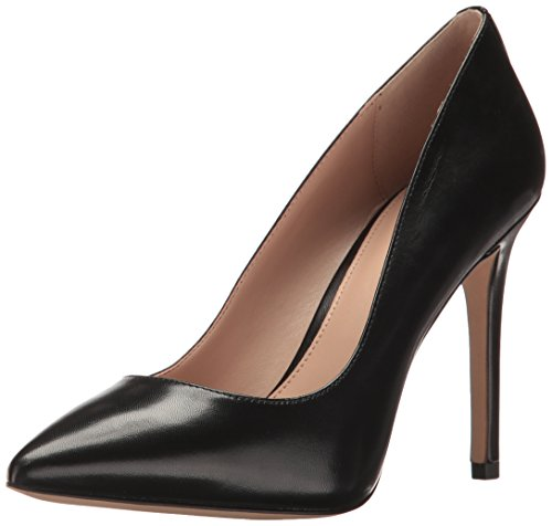 BCBGeneration Women's Heidi Pump, Black Leather, 9.5M