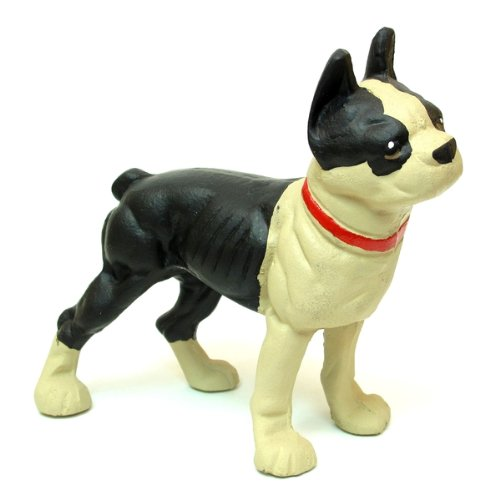 Iwgac Home Indoor Decorative Cast Iron Door Stop Bulldog Boston Terrier ()