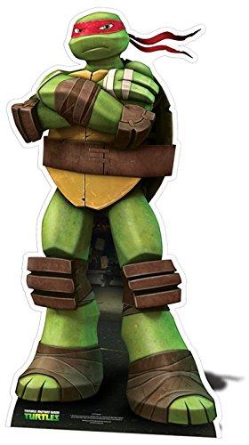 Las tortugas ninja Rafael cartulina recorte - 1,46 m: Amazon ...