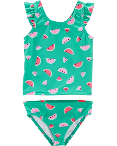 Osh Kosh Toddler Girls' Two-Piece Swimsuit, Watermelon Print, 3T]()
