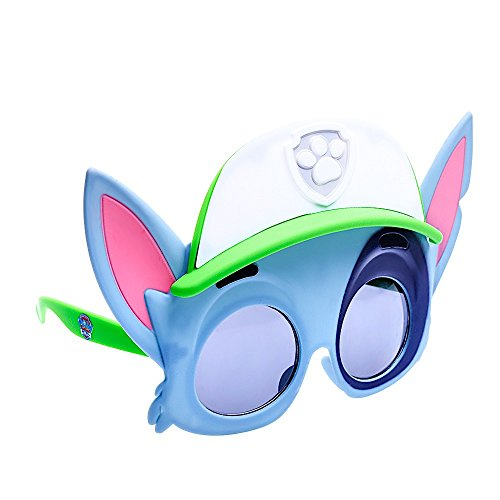 Sun-Staches Paw Patrol Rocky Costume Sunglasses, Party Favors UV400, Blue, Pink, Green, White
