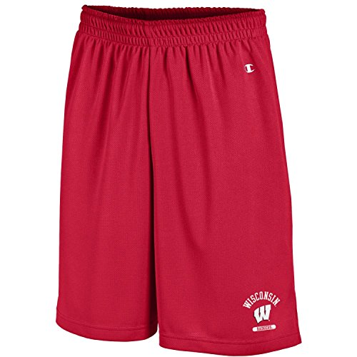 Champion NCAA Men's Classic Team Mesh Short, Scarlet, -