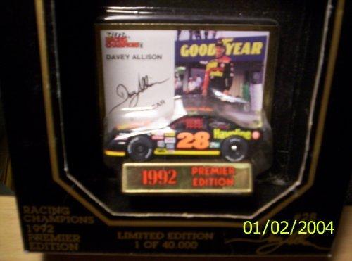 Racing Champions 1992 Davey Allison #28 Premier Edition 1:64 scale Nascar (Allison 1)
