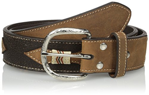 Nocona Belt Co. Men's Spur Raw Overlay, Brown, 32 ()