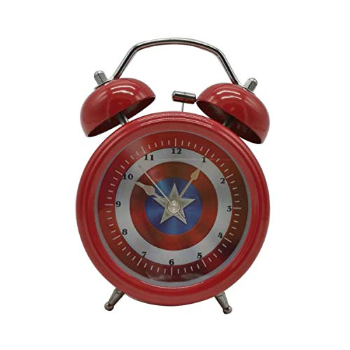 Wolf Warrior Novelty Superhero Analog Alarm Clock Silent Sweep Night Backlight Home Decoration Round Desk Alarm Clock Children Gift (3